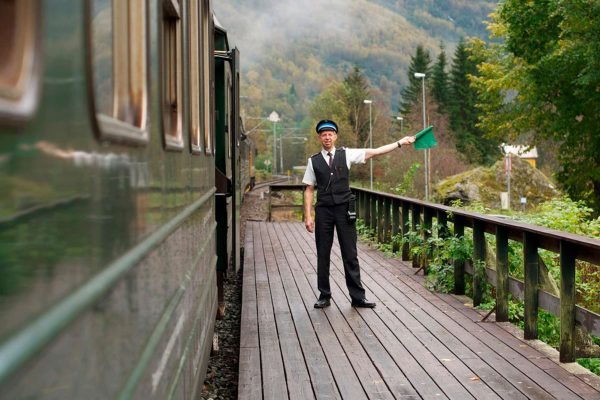 norway fjords flam station train guard vflm kl
