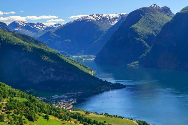 norway fjords flam summer view aurlandsfjord vflm ja