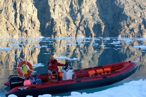 south greenland zodiac cruise taser