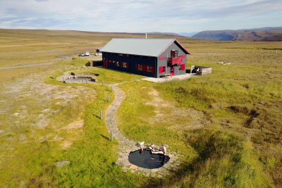 iceland east laugarfell aerial view
