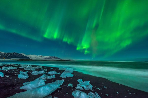 iceland jokulsarlon northern lights copy