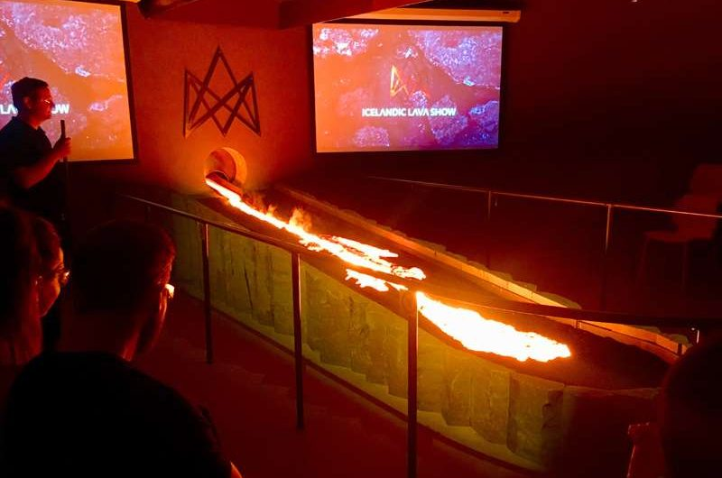 icelandic lava show demonstration