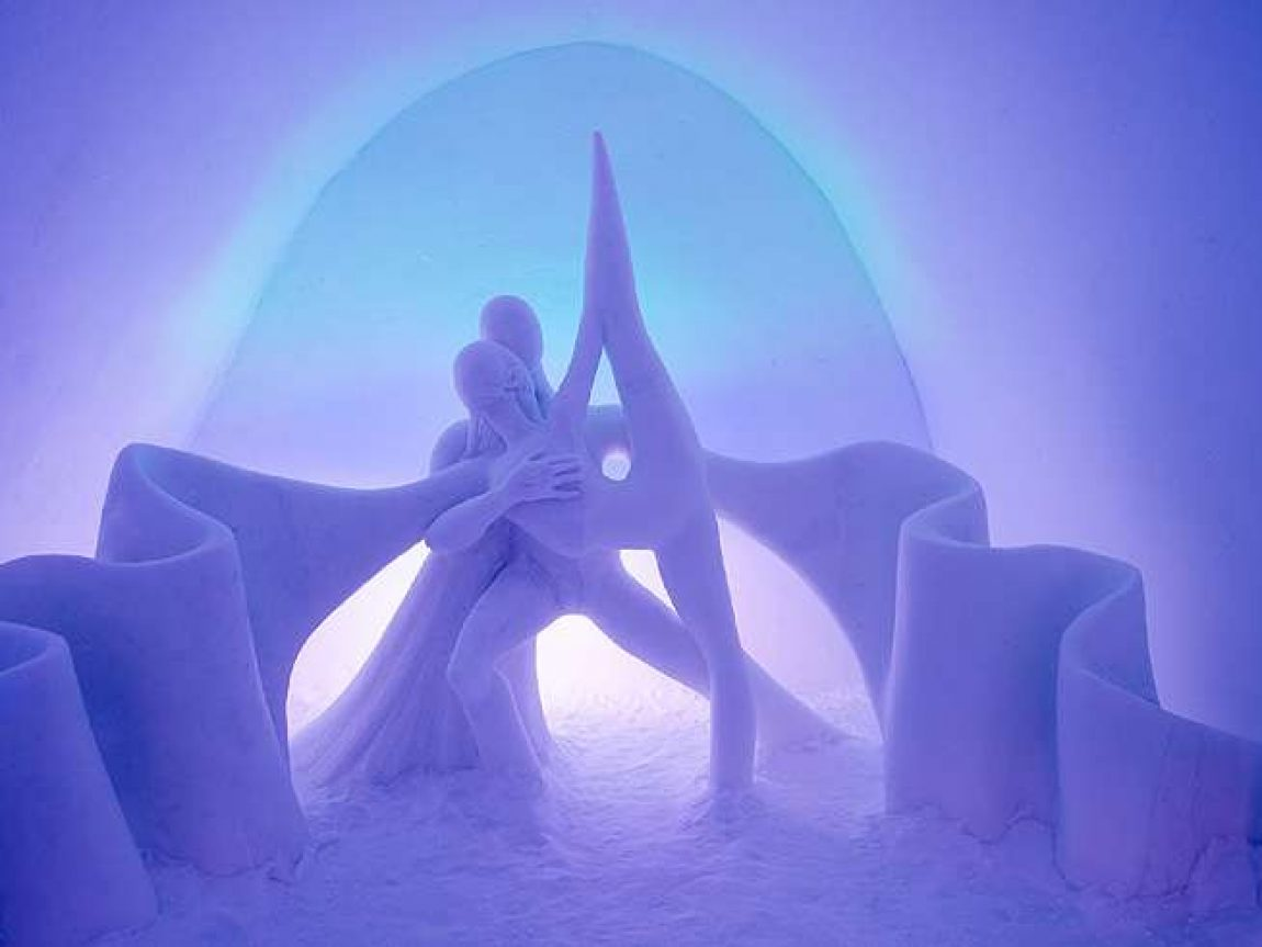 swedish lapland icehotel29 art suite dancing auroras by emilie steele and sebastian delluva ak