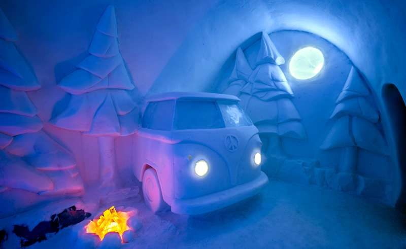 swedish lapland icehotel29 art suite spruce woods by christopher pancoe and jennie okeefe ak