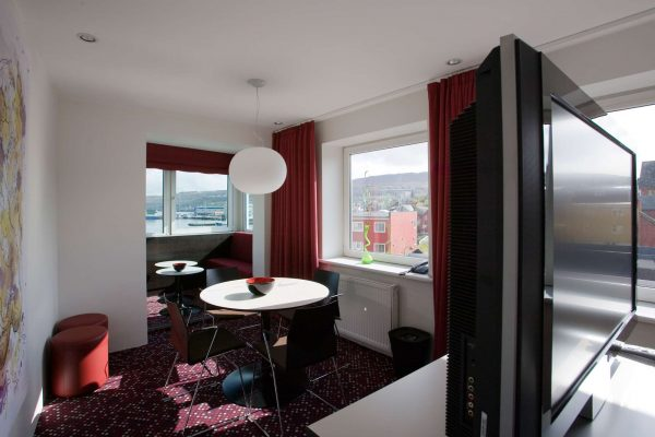 torshavn hotel suite with seaview
