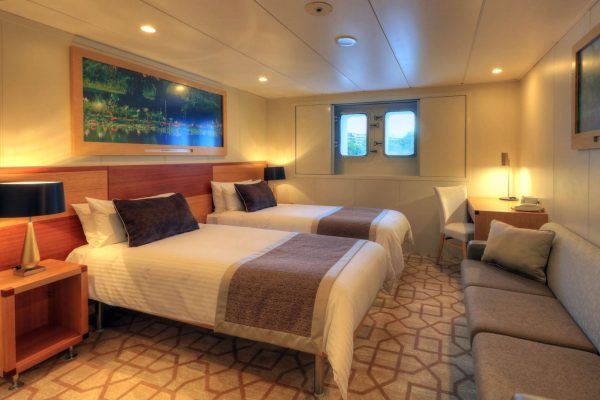 coral discoverer ship main deck twin cabin