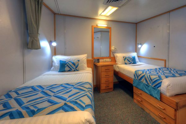 coral expeditions I ship twin cabin