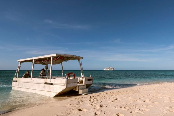 coral expeditions II ship beach landing craft