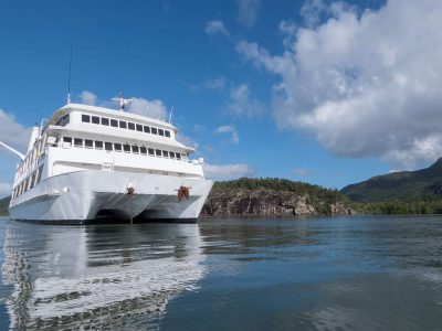 coral expeditions II ship bow view