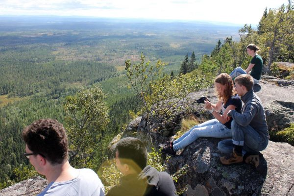 dalarna johannisholm hiking group view