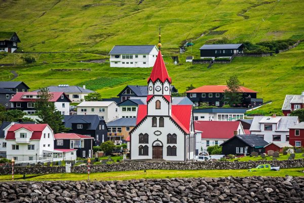 faroe islands vagar sandavagur church istk