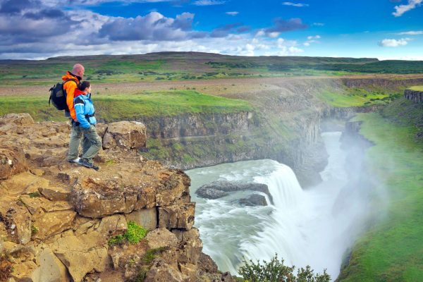 iceland south west gullfoss canyon hikers istk