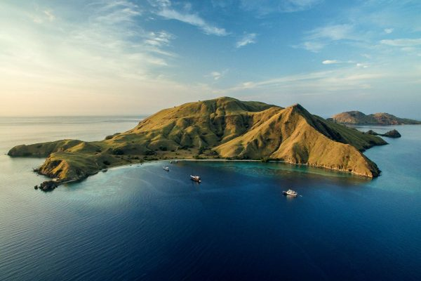 indonesia komodo islands aerial view istk