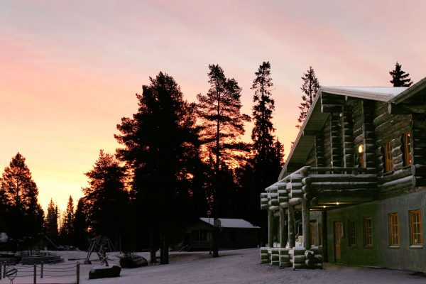 swedish lapland brandon lodge winter sunset pp