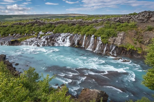 west iceland hraunfossar view rth