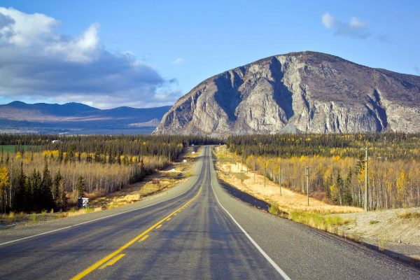 canada yukon highway near haines junction istk