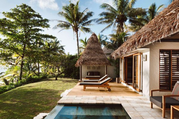 fiji tokoriki island resort beachfront pool villa