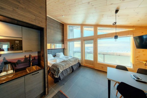finnish lapland star arctic hotel twin room view