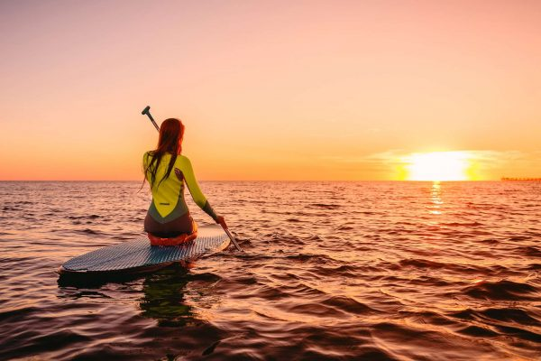 french polynesia sunset paddleboarder istk