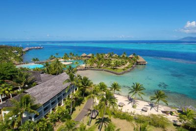 french polynesia tahiti intercontinental resort aerial view