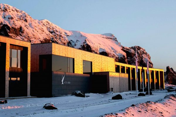 iceland south west hotel kria exterior winter