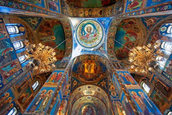 russia st petersburg interior church of the saviour istk