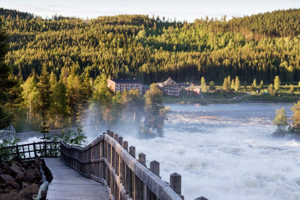 swedish lapland loggers lodge day trip to storforsen
