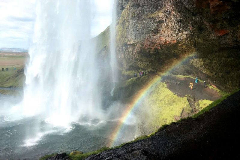 edu iceland team trip seljalandsfoss rainbow