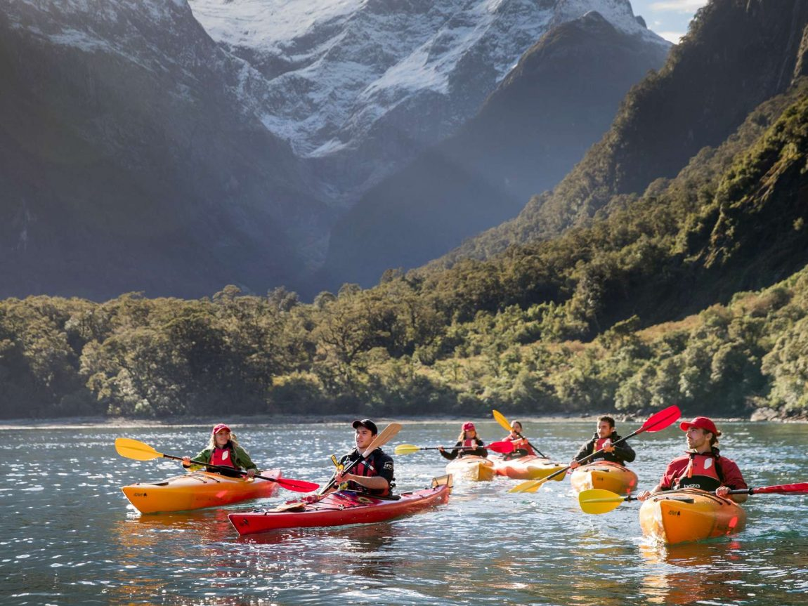milford sound kayaking with views of pembroke glacier sthndisc