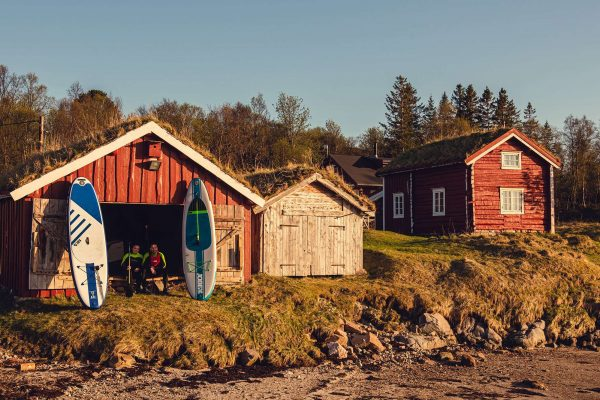 northern senja tranoy gard boathouse paddleboarders