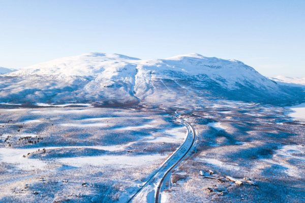swedish lapland abisko mountain station nat park aerial istk