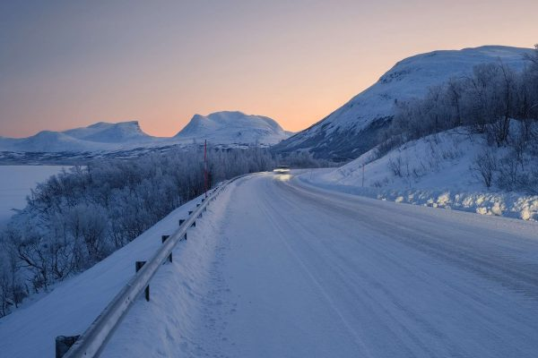 swedish lapland lapporten gap and road in abisko istk