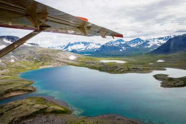 alaska katmai aerial view with wing istk