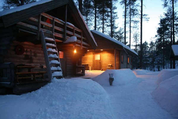 swedish lapland arctic retreat family cabin exterior