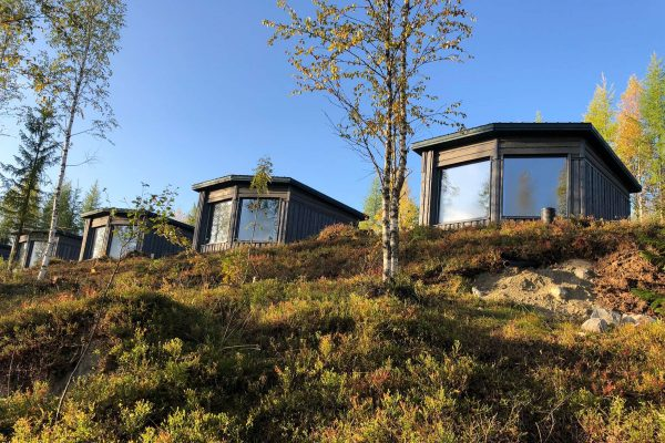 finland luxury bear watching cabins exterior as