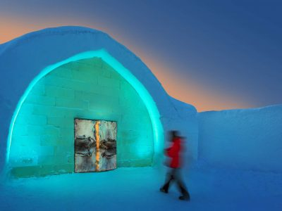 swedish lapland icehotel entrance cleaned rth