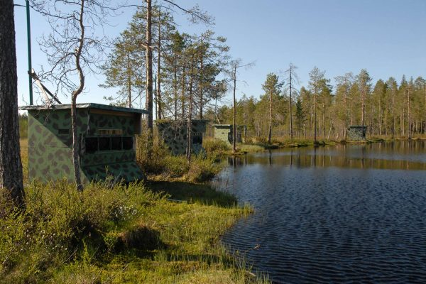 eastern finland hides on the lakeshore as