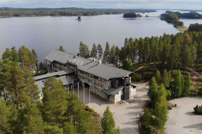eastern finland hotel kalevala aerial view