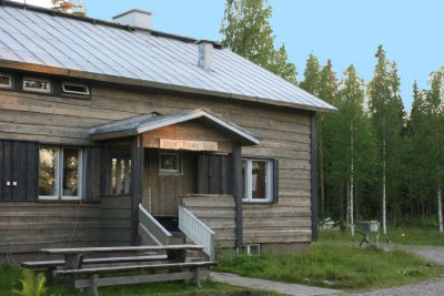 eastern finland wild brown bear guesthouse entrance