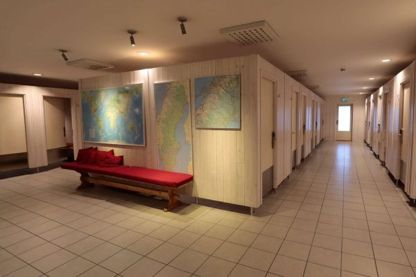 swedish lapland icehotel riverside lobby changing rooms