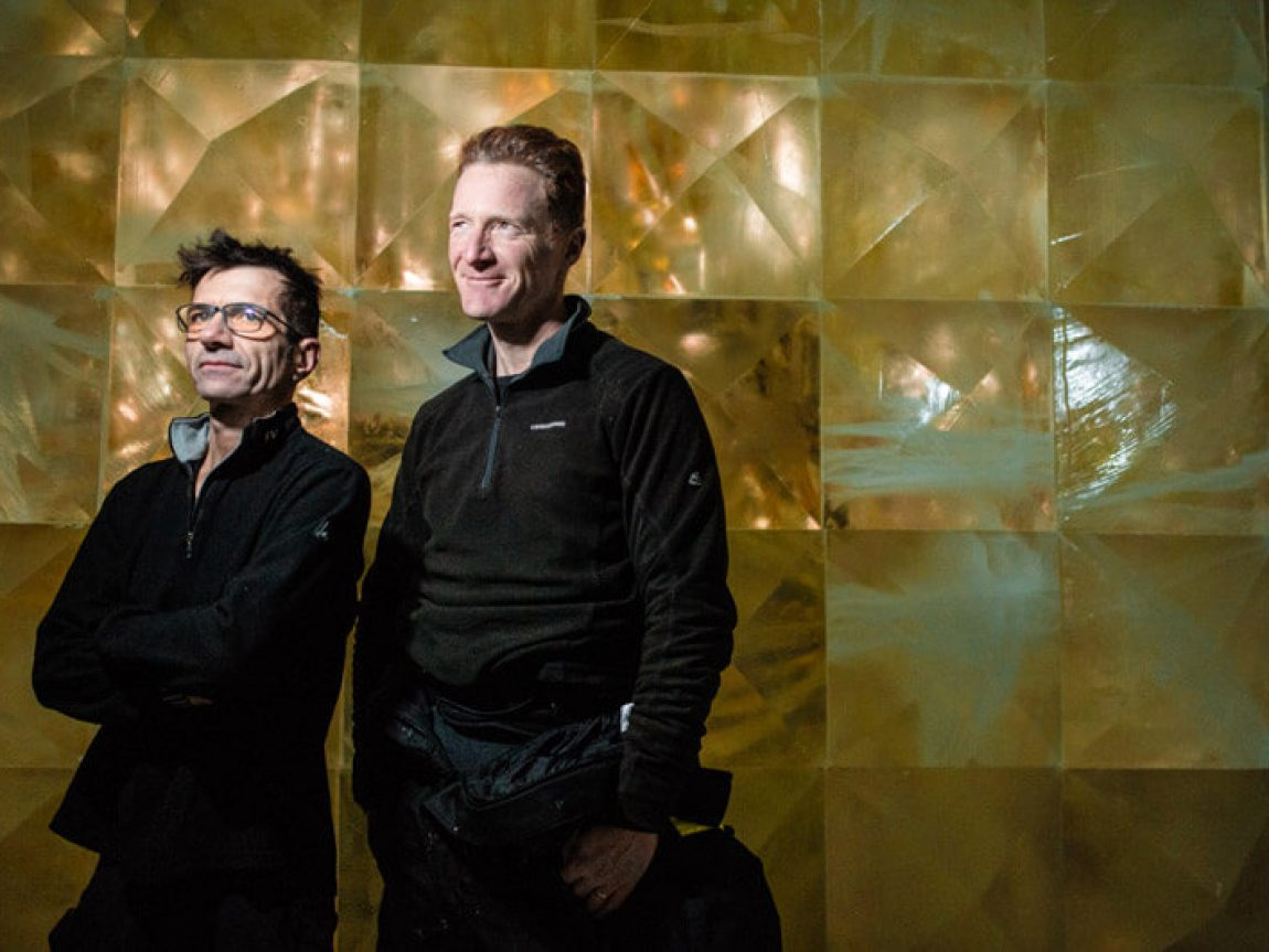 icehotel30 artists nicolas triboulot and jean marie guitera golden ice ak
