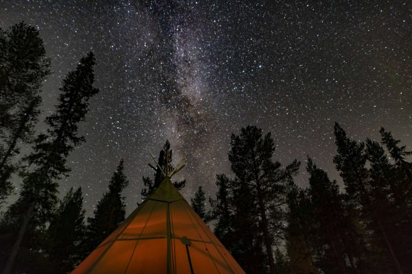 swedish lapland sapmi nature camp night sky