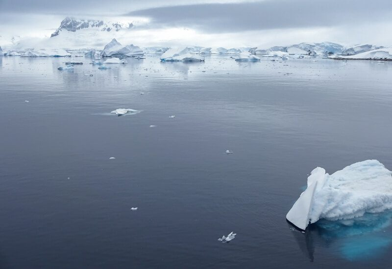 tranquil iceberg scenery in antarctica cp
