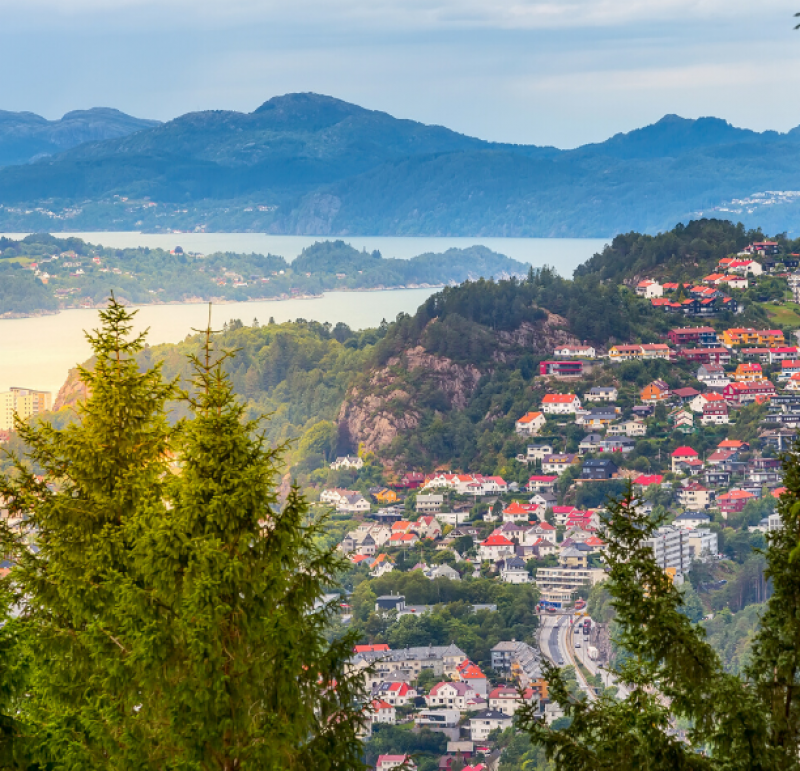 View of Bergen from a mountain