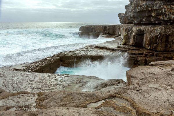 ireland worm hole natural pool inishmore istk