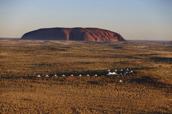 longitude 131 aerial view against uluru backdrop