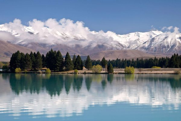 new zealand lake pukaki mountains near twizel istk