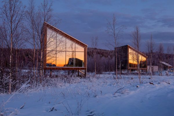 arctic bath land suites cabins sunset anders blomqvist