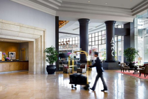 bc fairmont waterfront vancouver lobby