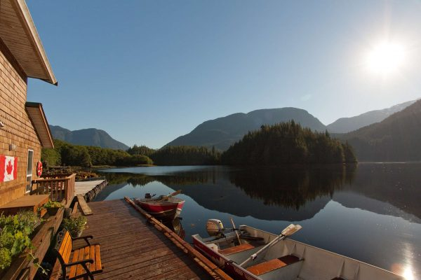 british columbia great bear lodge water view